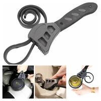2 PCS Multi-function Adjustable Rubber Strap Wrench Spanner For Car Oil Filter