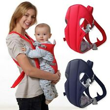 Comfort Mom Front Back Sling Buckle Seat Bag Baby Toddler Carrier Backpack Red