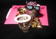 """Betsey Johnson """"Angel Devil"""" Angel and Devil Skull Ring, Size 7.5"""
