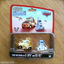 Disney PIXAR Cars STAR WARS Luigi and Guido as C-3PO AND R2-D2 diecast RARE pair
