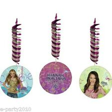 HANNAH MONTANA HANGING DECORATIONS (3) ~ Birthday Party Supplies Foil Disney