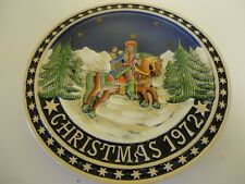 """THE BAVARIAN CHRISTMAS PLATE LIMITED EDITION 1972 WEST GERMANY SCHMID DESIGN 10"""""""