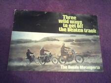 1970 Honda SL90,CL175K3 & SL350 factory original sales brochure (Reprint)  $7.50