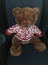 "Aeropostale 2007 Holiday Teddy Bear Hoodie Logo Jacket Love Tank 16"" plush"