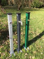 Zentara Wasserpfosten / Wasserzapfsäule Anthrazit/Moosgrün/Verzinkt & Hahn