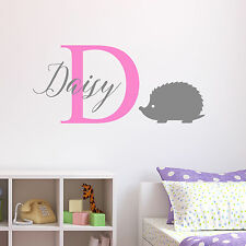 Adesivo Parete Riccio personalizzato Adesivi murali per bambini asilo camera da letto