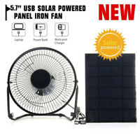 5.7'' USB Solar Powered Panel Iron Fan Cooling Ventilation Fan for Chicken House