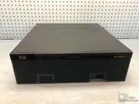 CISCO3925 ACCESS ROUTER 1GB SDRAM 256MB FLEX FLASH W/ PVDM3-64 V01 - AC PWR