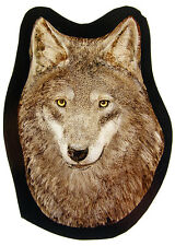 Wolf stained glass fragment, kilnfired glass, Wolf suncatcher, canis lupus, wolf