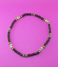 Rasta Reggae Bob Marley Chocker Necklace Coco shell Skull Bone Bead Surfer