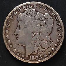 USA Morgan Dollar 1883 S San Francisco Silber Selten 3398
