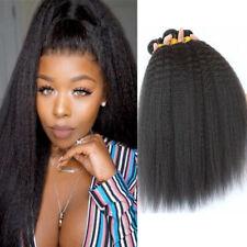 4Bundles 200G Kinky Straight Human Hair Extensions Kinky Straight Hair Weaves