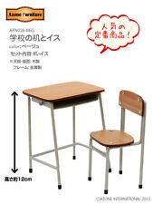 Azone Pureneemo School Desk & Chair Set Beige Blythe Pullip Momoko 1/6 Obitsu