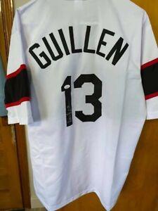 White Sox Legend  OZZIE GUILLEN  Autographed CHICAGO Jersey JSA - Throwback