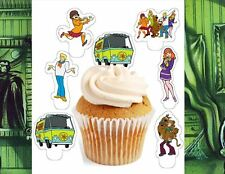 scooby doo and gang x24 edible stand up cup cake toppers wafer paper pre-cut