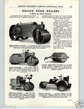 1941 PAPER AD 3 PG Galion Road Roller Tandem 3 Wheel Sheepfoot Trench Grader