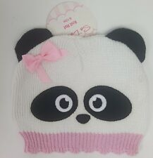 SoDorable Panda Girl Knit Beanie Stocking Cap Hat Infant Toddler 6-12 Months NWT