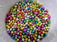 1800pcs 5mm Acrylic CHRISTMAS JEWEL Round Spacer Beads - ASSORTED Metallic M19