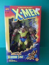 "X-MEN DELUXE EDITION ""WOLVERINE SPACE"" 10""IN FIGURE  1995 TOY BIZ"