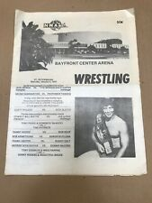 Wrestling Program NWA St. Petersburg January 4, 1975 Andre The Giant