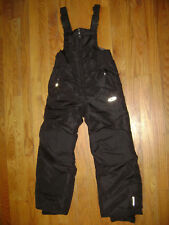CHAMPION SNOWPANT SUIT SNOW SKI PANTS BIB Size S 6 / 7 Youth BOYS GIRLS BLACK