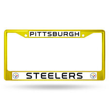 Pittsburgh Steelers Yellow Metal License Frame [NEW] NFL Auto Car Truck Plate