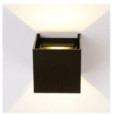 Wall Light Cube Night Black Sconces White Simple Waterproof LED Outdoor Indoor