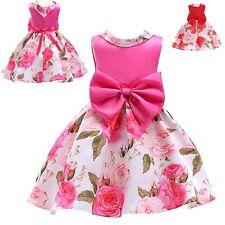 Vestito Bambina Abito Cerimonia Rose Girl Summer Flowers Party Dress DG0048B P
