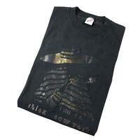 Vintage 90s T Shirt Single Stitch XL Think New York Rose Graphic Tee Black