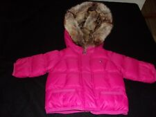 TOMMY HILFIGER  BABY GIRL PINK HOODED DOWN JACKET SIZE 3-6 MONTHS