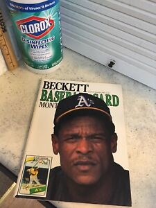 Excellent Condition 1989 Rickey Henderson Rookie BECKETT Guide ISSUE #57 Jose C.