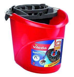 New Vileda Supermocio Bucket & Wringer Mop Bucket & Wringer Cleaning FH122240