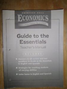 PH Economics Principles in Action Guide to the Essentials, Teacher's Manual 8424