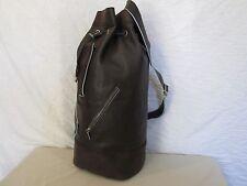 Genuine Taryn Rose large leather steamer travel bag in brown