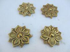 """Brass Flower Ormolu Furniture Hardware Gold Mount Clover Flower Antique STYLE 2"""""""