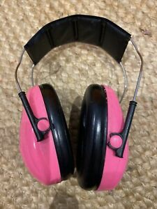 3M Peltor Kids Ear Defenders Ear Muffs Childrens Hearing Protection Neon Pink