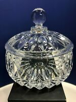 Gorham Althea Cut Crystal Lidded Candy Dish Made in West Germany Heavy Glass