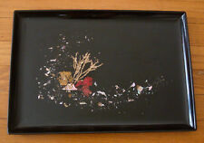 "Vintage Couroc Medium Serving Tray with Coral Sea Motif 15 1/2"" x 10 3/4"""
