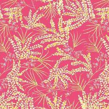 The Painted Garden Dena Designs Fern Pink  Quilt Fabric Free Spirit  BTY