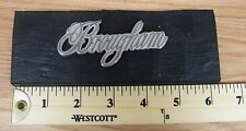 Cadillac Brougham Silver Vehicle Emblem / Script Lettering  **READ**