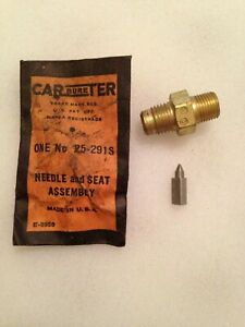 Carburetor Needle Seat Assembly NO GASKET Carbureter 25-291S Plymouth V8