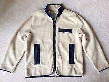 St. John's Bay Thick SHERPA FLEECE Zip Pocket Jacket Men's XL Cream/Navy