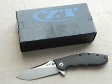 Zero Tolerance ZT 0562CF Titanium Framelock Folding Knife! Hinderer Flipper