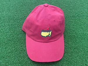 NEW American Needle MASTERS GOLF HAT RED Adjustable Size NWT Augusta Tiger Woods