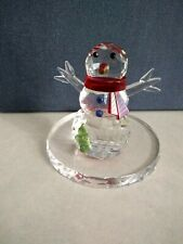 Partylite Sparkle Lite Crystal Snowman Tealight Holder P9203~ Rare, Retired, New