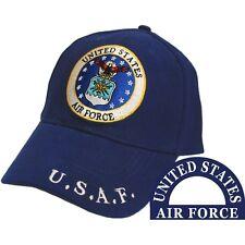 United States Air Force Eagle Logo Blue Hat U.S.A.F. Cap