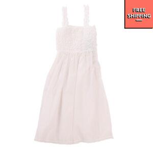 Sundress Size 4Y White Ruffle Lace Trim Sleeveless Square Neck
