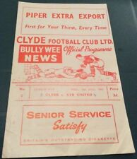 Clyde Scottish Cups Home Teams C-E Football Programmes