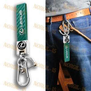 For LEXUS 2019 2020 2021 Car Key Chain Key Ring Metal Leather Keychain Lanyard