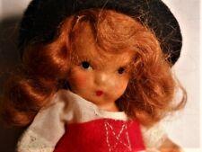 """Vintage Nancy Ann Storybook Jtd Leg Bisque Doll #26 """"Swiss"""" Around World"""